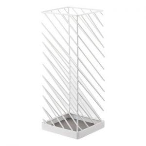 Suport pentru umbrele YAMAZAKI Slash, lățime 18 cm, alb