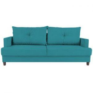 Canapea extensibilă cu 3 locuri Melart Lorenzo, turcoaz