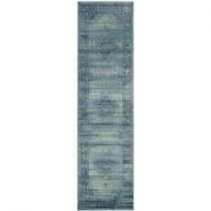 Covor Safavieh Olivia, 66 x 243 cm, albastru