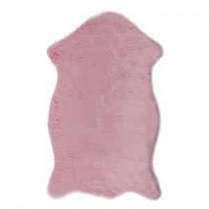 Covor din blană artificială Dione, 100 x 75 cm, roz