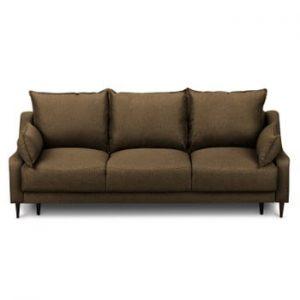 Canapea extensibilă cu 3 locuri și spațiu pentru depozitare Mazzini Sofas Ancolie, maro