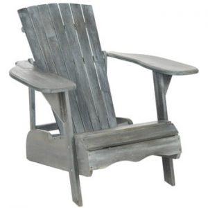 Fotoliu din lemn pentru exterior Safavieh Mopani Grey, gri