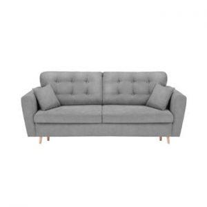 Canapea extensibilă cu 3 locuri și spațiu pentru depozitare Cosmopolitan Design Grenoble, gri