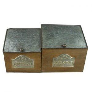 Set 2 cutii Antic Line Cuisine