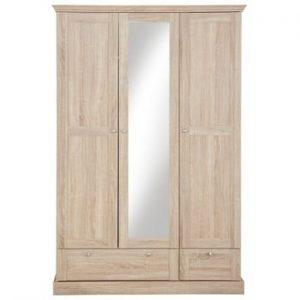 Șifonier cu 3 uși și oglindă cu model de stejar Støraa Bruce