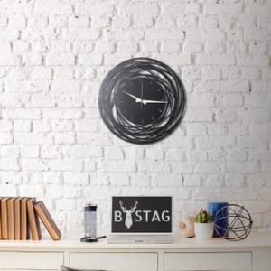 Ceas din metal pentru perete Ball, 50 x 50 cm
