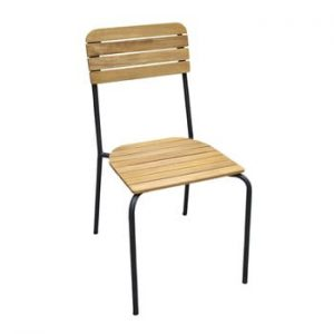 Set 2 scaune de grădină Ezeis Scool, natural