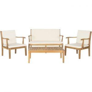 Set mobilier de grădină din lemn de acacia Safavieh Lugano