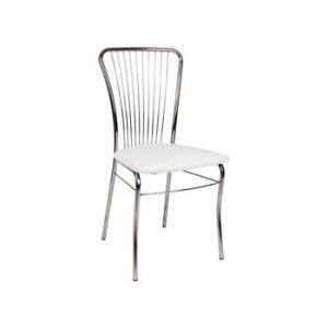 Scaun cu husă din piele ecologică Evergreen House Dinner, alb