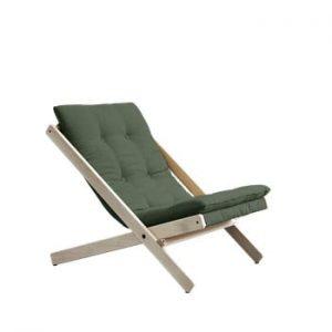 Scaun pliabil din lemn de fag Karup Design Boogie Olive Green, 60 x 115 cm, verde olive