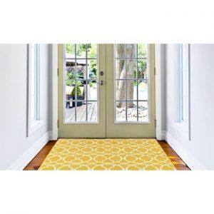 Covor foarte rezistent Floorita Interlaced, 133x190cm, galben