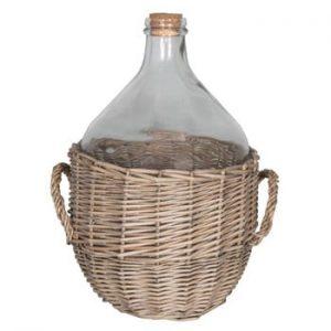 Coș răchită cu recipient sticlă Antic Line