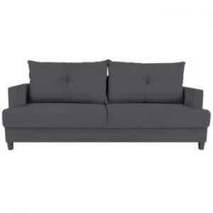Canapea extensibilă cu 3 locuri Melart Lorenzo, gri închis