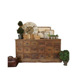 Comodă cu sertare din lemn de pin Orchidea Milano Vintage Natural