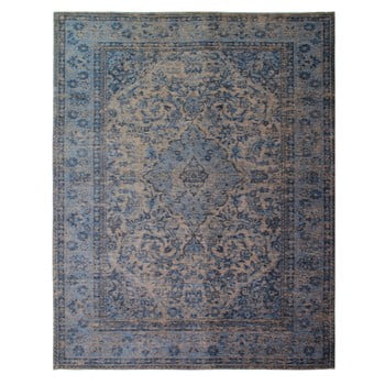 Covor țesut manual Flair Rugs Palais, 120 x 170 cm, albastru