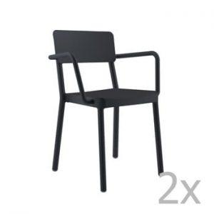 Set 2 scaune de grădină Resol Lisboa, negru