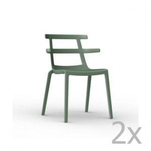 Set 2 scaune de grădină Resol Tokyo, verde