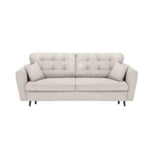 Canapea extensibilă cu 3 locuri și spațiu pentru depozitare Cosmopolitan Design Lyon, gri deschis