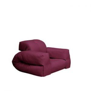 Fotoliu extensibil Karup Design Hippo Bordeaux