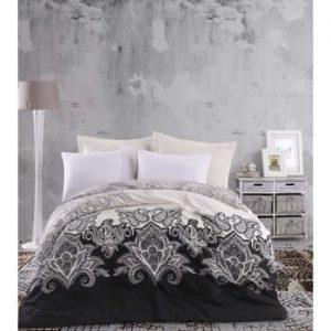 Lenjerie de pat cu cearşaf din bumbac Sidi, 200 x 220 cm