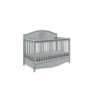 Pătuț variabil pentru copii cu sertar BELLAMY GoodNight, 70x140cm, gri