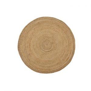 Covor din iută Linen Rug Ricardo, ⌀ 90 cm