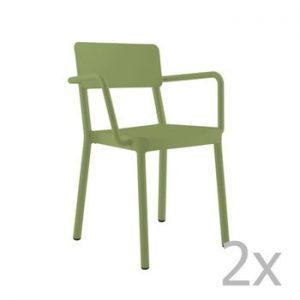 Set 2 scaune de grădină Resol Lisboa, verde