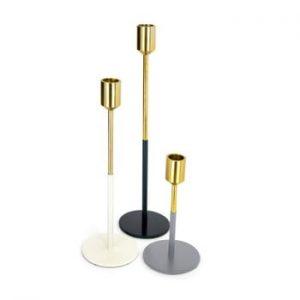 Set 3 suporturi pentru lumânări 360 Living Sian Gold Margo