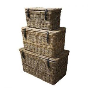 Set 3 coșuri din ratan koboo HSM Collection Storage