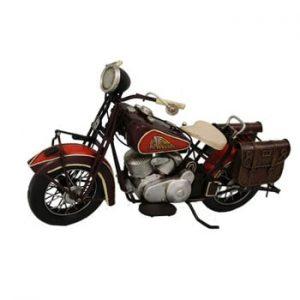 Motoretă decorativă Antic Line Red Motocycle
