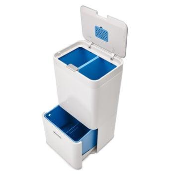 Coș deșeuri reciclabile Joseph Joseph IntelligentWaste Totem 58, alb