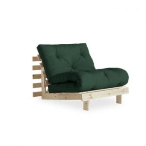 Fotoliu extensibil Karup Design Roots Raw/Forest Green