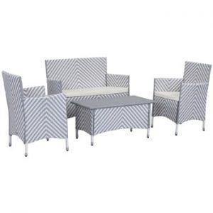 Set de mobilier pentru grădină Safavieh Venice, gri - alb
