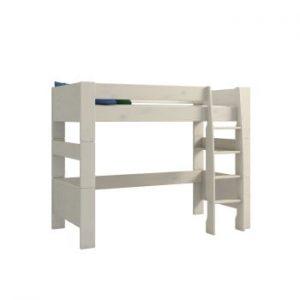 Pat supraetajat din lemn de pin pentru copii Steens For Kids, înălțime 164cm, alb