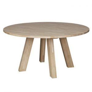 Masă din lemn de stejar WOOOD Rhonda, Ø 150 cm