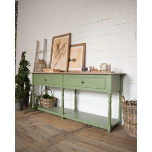 Masă tip consolă din lemn de pin Orchidea Milano Cortina, verde deschis