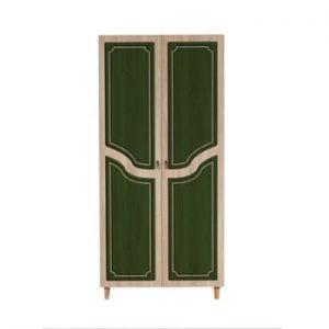 Dulap cu 2 uși Stil Retro Green, 90 x 192 cm