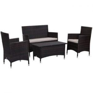 Set de mobilier pentru grădină Safavieh Venice, negru