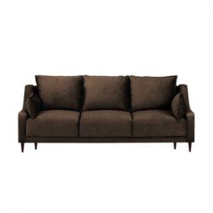 Canapea extensibilă cu 3 locuri Mazzini Sofas Freesia, maro