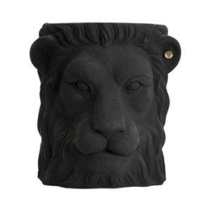 Ghiveci Garden Glory Lion, înălțime 40 cm, negru