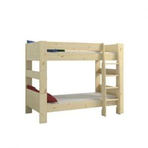 Pat supraetajat din lemn de pin pentru copii Steens For Kids, înălțime 164cm