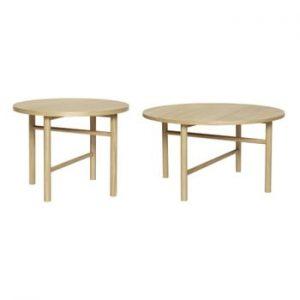 Set 2 măsuțe Hübsch Oak Table
