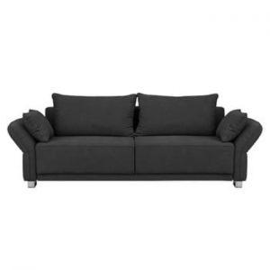 Canapea extensibilă cu 3 locuri și spațiu de depozitare Windsor & Co Sofas Casiopeia, gri închis
