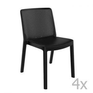 Set 4 scaune de grădină Resol Fresh Garden, negru