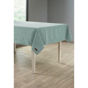 Față de masă cu adaos de in Tiseco Home Studio, 135 x 240 cm, verde