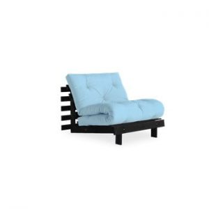 Fotoliu extensibil Karup Design Roots Black/Light Blue, albastru deschis