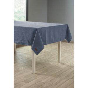 Față de masă cu adaos de in Tiseco Home Studio, 135 x 240 cm, albastru închis