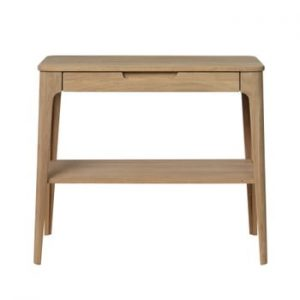 Măsuță auxiliară din lemn de stejar alb Unique Furniture Amalfi