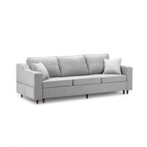 Canapea extensibilă cu 3 locuri și spațiu de depozitare Mazzini Sofas Narcisse, gri