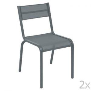 Set 2 scaune de grădină Fermob Oléron, gri